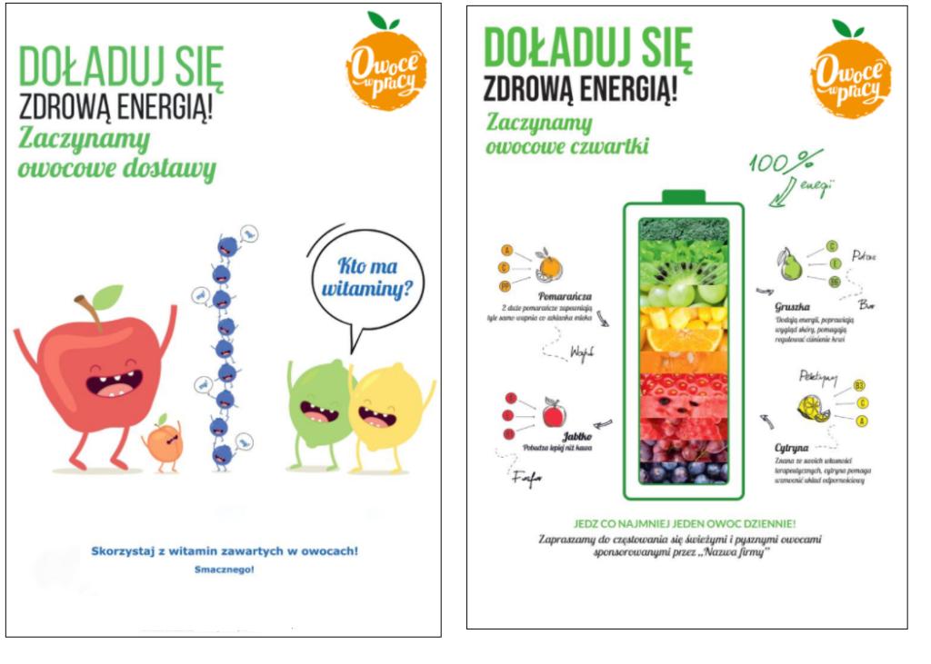owoce do biura - plakaty informacyjne